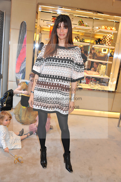 LISA BILTON at a fun filled tea party hosted by Roger Vivier to view their Jeune Fille collection of shoes in aid of Mothers4Children held at Roger Vivier, Sloane Street, London on 27th March 2012.
