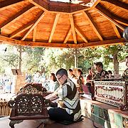 Gamelan Sari Raras perform gamelan music and works by Lou Harrison at Libbey Park Gazebo on June 8, 2013 in Ojai, California.