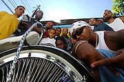 Sao Paulo_SP, Brasil...Rapper Afro-X e os integrantes de sua banda...The rapper Afro-X and his band...Foto: LEO DRUMOND / NITRO
