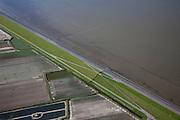 Nederland, Friesland, Gemeente Dongeradeel, 08-09-2009; Zeedijk ten Noorden van Nes met Wierumerwad met landaanwinning bij hoog water.Seawall north of Nes, Wierumerwad with land reclamation at high water.luchtfoto (toeslag); aerial photo (additional fee required); .foto Siebe Swart / photo Siebe Swart
