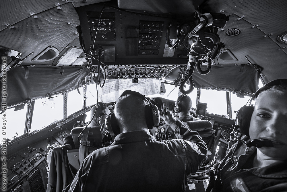 Flight deck of the LC-130 for flight from the South Pole to McMurdo Station