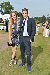 HUM FLEMING and BLAISE PATRICK at the Laureus Polo held at Ham Polo Club, Ham, Richmond, Surrey on 18th June 2015.