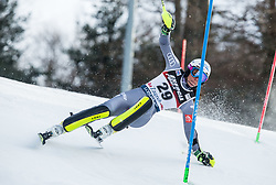 """Nastasia Noens (FRA) competes during 1st Run of FIS Alpine Ski World Cup 2017/18 Ladies' Slalom race named """"Snow Queen Trophy 2018"""", on January 3, 2018 in Course Crveni Spust at Sljeme hill, Zagreb, Croatia. Photo by Vid Ponikvar / Sportida"""