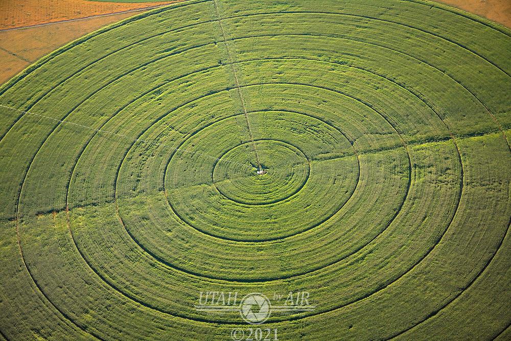 Circle farming in central Utah