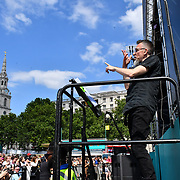 Sign Language Interpreters at West End Live 2019 in Trafalgar Square, on 22 June 2019, London, UK.