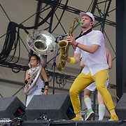 London, England, UK. 16th July 2017. Lucky  Chops performs at the Citadel Festival at Victoria Park, London, UK.