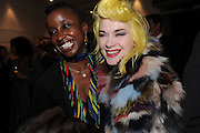 ZOE BEDEAUX; PAM HOGG, Vanity Fair  hosted  UK Premiere and party for Beyond Time. A film about the artist William Turnbull made by his son Alex Turnbull. Narrated by Jude Law. I.C.A. London. 17 November 2011<br /> <br />  , -DO NOT ARCHIVE-© Copyright Photograph by Dafydd Jones. 248 Clapham Rd. London SW9 0PZ. Tel 0207 820 0771. www.dafjones.com.