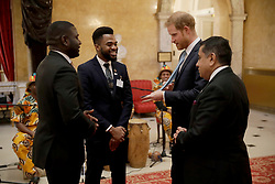January 30, 2019 - London, London, United Kingdom - Image licensed to i-Images Picture Agency. 30/01/2019. London, United Kingdom. Britain's Prince Harry, in his role of Commonwealth Youth Ambassador, meets young people from across the Commonwealth in a roundtable discussion at Lancaster House in London.  The event allowed the Prince to hear directly from young people about the issues that are key to them in the run up to the Commonwealth Heads of Government Meeting 2020 (CHOGM) due to be held in Rwanda. (Credit Image: © Pool/i-Images via ZUMA Press)