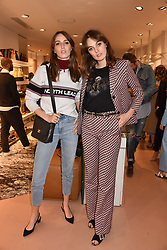 Left to right, Lady Alice Manners and Lady Violet Manners at launch of Bimba Y Lola, 295 Brompton Road, London England. 26 April 2018.