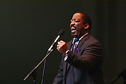 "19 January 2015-Santa Barbara, CA: The Arlington Theater Program; Musical Selection, St. Paul Baptist Church Mass Choir, Rev Jai Nix Dir. Santa Barbara Honors Dr. Martin Luther King Jr. with a Day of Celebration.  The Santa Barbara MLK, Jr. Committee chose ""Drum Majors for Justice"" as it's theme for the day which included a Pre-March Program in De la Guerra Plaza followed by a march up State Street to the Arlington Theater for speakers, music and poetry.  The program concluded with a Community Lunch at the First United Methodist Church in Santa Barbara.  Photo by Rod Rolle"