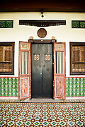 Traditional shophouse entrance, Phuket Old Town
