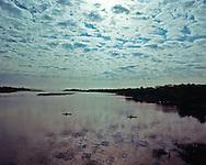 Peconic River, Flanders, Riverhead, New York,  kayak fishing,