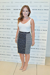 TANYA BURR at the French Connection #NeverMissATrick Launch Party held at French Connection, 396 Oxford Street, London on 23rd July 2014.