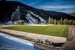 Football court in the new Nordic centre Planica, on December 11, 2015 in Planica, Slovenia. Photo by Vid Ponikvar / Sportida