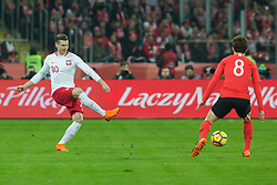 March 27, 2018 - Chorzow, Poland - Lukasz Piszczek of Poland vies Jae-sung Lee (KOR),   during the international friendly soccer match between Poland and South Korea national football teams, at the Silesian Stadium in Chorzow, Poland on 27 March 2018. (Credit Image: © Foto Olimpik/NurPhoto via ZUMA Press)