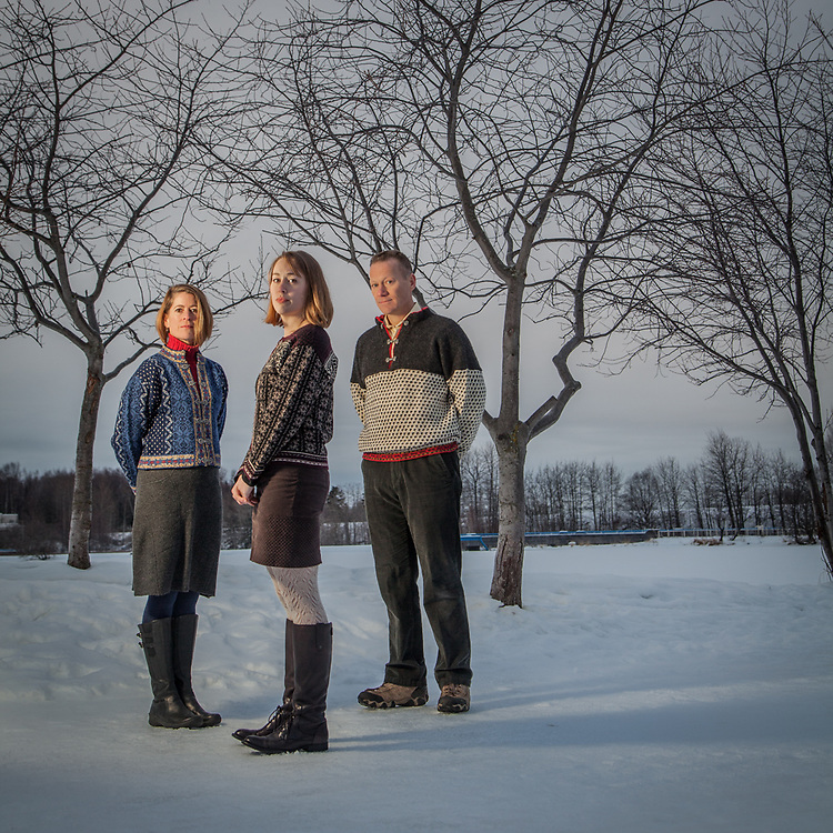 Theresa and Phil Smith and their daughter, Emily, at Westchester Lagoon, Anchorage