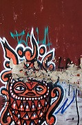 "Street art / graffiti, possibly  by the artist known as ""Begor,"" Oaxaca."