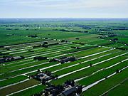 Nederland, Utrecht, Kockengen, 14-09-2019; veenweide landschap tussen Kamerik en Kockengen. Strokenverkaveling, weilanden voor veeteelt.<br /> Peat meadow landscape between Kamerik and Kockengen. Land parcelling, pastures for animal husbandry.<br /> <br /> luchtfoto (toeslag op standard tarieven);<br /> aerial photo (additional fee required);<br /> copyright foto/photo Siebe Swart
