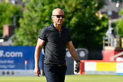 Exeter City manager Paul Tisdale walking on the pitch before the EFL Sky Bet League 2 match between Exeter City and Lincoln City at St James' Park, Exeter, England on 17 May 2018. Picture by Graham Hunt.