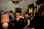 Book party; Jessica Adams, Maggie Alderson, Imogen Edwards-Jones and Kathy Lette host the launch of 'In Bed With.' Artesian, The Langham, Portland Place. London. 11 February 2009 *** Local Caption *** -DO NOT ARCHIVE-© Copyright Photograph by Dafydd Jones. 248 Clapham Rd. London SW9 0PZ. Tel 0207 820 0771. www.dafjones.com.<br /> Book party; Jessica Adams, Maggie Alderson, Imogen Edwards-Jones and Kathy Lette host the launch of 'In Bed With.' Artesian, The Langham, Portland Place. London. 11 February 2009