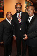 """15 November 2010- New York, NY- Kedar Massenburg, Don Coleman and Rev. Al Sharpton at The National Action Network's 1st Annual Triumph Awards honoring """"Our Best"""" in the Arts, Entertainment, & Sports held at Jazz at Lincoln Center on November 15, 2010 in New York City. Photo Credit: Terrence Jennings"""