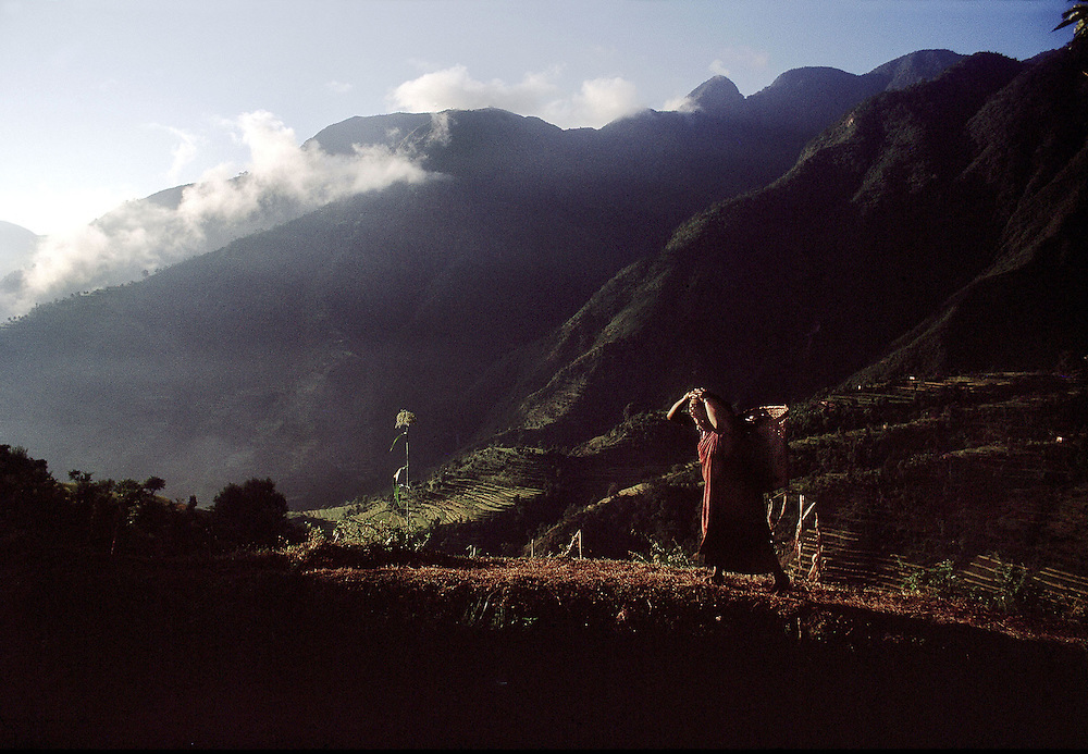 Nepal. Rural scene in the foothills of the Himalayas.1969.Photographed by Terry Fincher