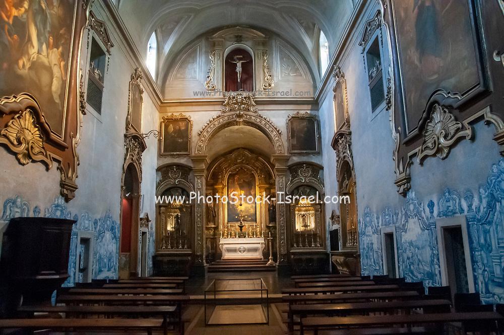 Interior of the Convent of Saint Peter of Alcantara (Convento de Sao Pedro de Alcantara), Bairro Alto, Lisbon, Portugal