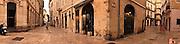 Panoramic view, Medieval Buildings, Walkways, Nimes, France