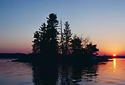 Sunset over Kabetogama Lake, Voyageurs National Park, Minnesota.