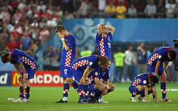 Team Croatia during penalty shots during the UEFA EURO 2008 Quarter-Final soccer match between Croatia and Turkey at Ernst-Happel Stadium, on June 20,2008, in Wien, Austria.  Won of Turkey after penalty shots. (Photo by Vid Ponikvar / Sportal Images)
