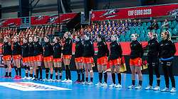 Team Netherlands during the Women's EHF Euro 2020 match between Netherlands and Germany at Sydbank Arena on december 14, 2020 in Kolding, Denmark (Photo by RHF Agency/Ronald Hoogendoorn)