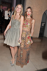 Left to right, ALICE NAYLOR-LEYLAND and ANNOUSHKA BECKWITH at a private view of 'Valentino: Master Of Couture' at Somerset House, London on 28th November 2012.