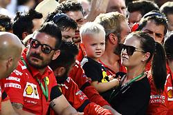 July 29, 2018 - Budapest, Hungary - Motorsports: FIA Formula One World Championship 2018, Grand Prix of Hungary, .Minttu Virtanen, wife of Kimi Raikkonen (FIN, Scuderia Ferrari), and her son Robin  (Credit Image: © Hoch Zwei via ZUMA Wire)
