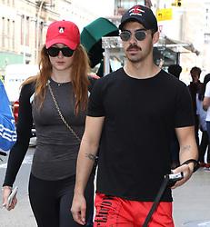 Sophie Turner & Joe Jonas are seen walking in Soho in New York<br /><br />8 September 2017.<br /><br />Please byline: Vantagenews.com
