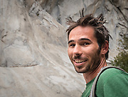 Kevin Jorgeson preparing to climb on El Capitan's Dawn Wall in November of 2013. Over a year later he and partner Tommy Caldwell completed the 3000' route in Yosemite Valley during an epic nineteen day push. The route is regarded by many as being the hardest rock climb in the world.