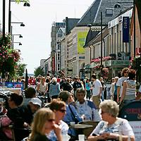 Markensgaten i Kristiansand om sommeren.