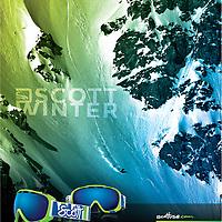 Scott Sports global campaign 2011. Stock image buy-out. Athlete: Jeremy Jones, Alaska.