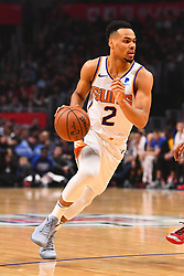 February 13, 2019 - Los Angeles, CA, U.S. - LOS ANGELES, CA - FEBRUARY 13: Phoenix Suns Guard Elie Okobo (2) drives to the basket during a NBA game between the Phoenix Suns and the Los Angeles Clippers on February 13, 2019 at STAPLES Center in Los Angeles, CA. (Photo by Brian Rothmuller/Icon Sportswire) (Credit Image: © Brian Rothmuller/Icon SMI via ZUMA Press)