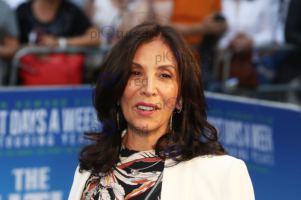 Olivia Harrison, The Beatles: Eight Days A Week: The Touring Years - World Film Premiere, Leicester Square, London UK, 15 September 2016, Photo by Richard Goldschmidt