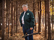 Evelyn Charlson on her property in Mountain, Wisconsin in April 2013. (Mike Roemer Photo)