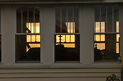 Windows at Dusk. Potts Point, South Harpswell, ME.