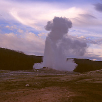 North America, USA, United States, Wyoming, Yellowstone National Park. Old Faithful Geyser.