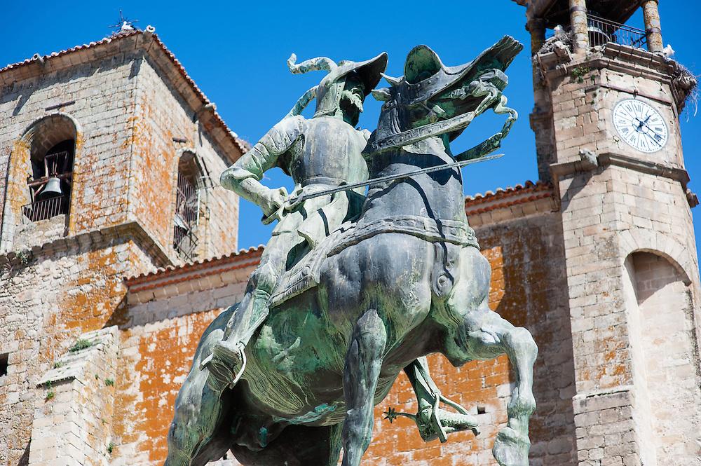 Pizarro sculpture in Trujillo (Spain)