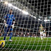 Sivasspor's Micheal Eneramo (not pictured) scores during their Turkish superleague soccer match Fenerbahce between Sivasspor at the Sukru Saracaoglu stadium in Istanbul Turkey on Sunday 03 February 2013. Photo by Aykut AKICI/TURKPIX