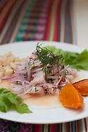 Barranco. A  ceviche at a restaurant Costa Verde