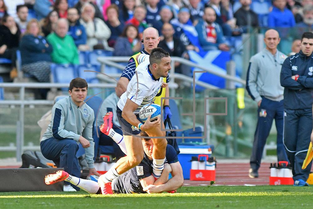 Roma 22/02/2020 Stadio Olimpico<br /> Guinness 6 nations 2020 : Italia vs Scozia<br /> Mattia Bellini