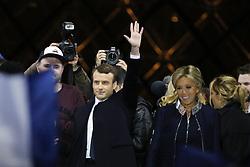 May 7, 2017 - Paris - Emmanuel Macron - Brigitte Trogneux femme d Emmanuel Macron (Credit Image: © Panoramic via ZUMA Press)