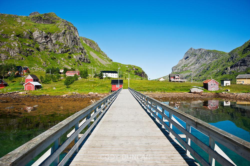 Harbour pier, Vindstad, Lofoten islands, Norway