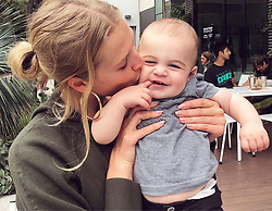 """Toni Garrn releases a photo on Instagram with the following caption: """"Almost ate this little guy alive today.. while mommy\u2019s were posing \ud83d\ude02\ud83d\ude08\u2764\ufe0f\ud83d\ude0d"""". Photo Credit: Instagram *** No USA Distribution *** For Editorial Use Only *** Not to be Published in Books or Photo Books ***  Please note: Fees charged by the agency are for the agency's services only, and do not, nor are they intended to, convey to the user any ownership of Copyright or License in the material. The agency does not claim any ownership including but not limited to Copyright or License in the attached material. By publishing this material you expressly agree to indemnify and to hold the agency and its directors, shareholders and employees harmless from any loss, claims, damages, demands, expenses (including legal fees), or any causes of action or allegation against the agency arising out of or connected in any way with publication of the material."""
