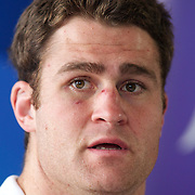 Australian Captain James Horwill at the teams press conference at Takapuna Beach, Auckland, durimng the IRB Rugby World Cup tournament, Auckland, New Zealand, 17th October 2011. Photo Tim Clayton...